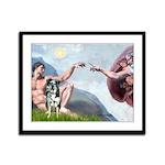 Creation / Catahoula Leopard Framed Panel Print
