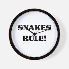 Snakes Rule Wall Clock