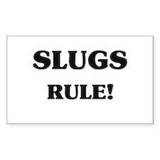 Slugs Rule Rectangle Decal