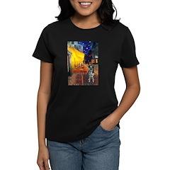 Cafe / Catahoula Leopard Dog Women's Dark T-Shirt