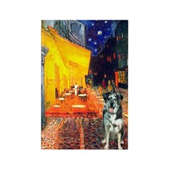 Cafe / Catahoula Leopard Dog Rectangle Magnet (10