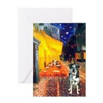 Cafe / Catahoula Leopard Dog Greeting Card