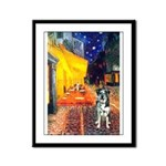 Cafe / Catahoula Leopard Dog Framed Panel Print