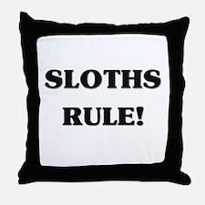 Sloths Rule Throw Pillow