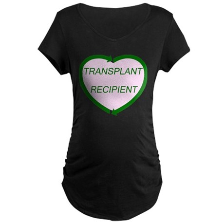 Transplant Recipient Maternity Dark T-Shirt