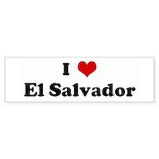 I Love El Salvador Bumper Bumper Sticker