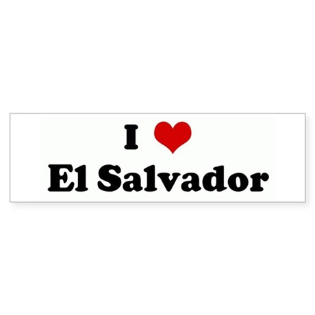 I Love El Salvador Bumper Sticker