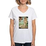Venus / Cairn Terrier Women's V-Neck T-Shirt