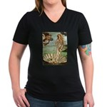 Venus / Cairn Terrier Women's V-Neck Dark T-Shirt