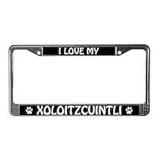 I Love My Xoloitzcuintli License Plate Frame