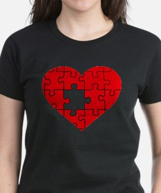 missing puzzle piece heart Tee
