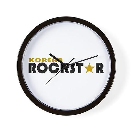 Korean Rockstar Wall Clock