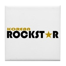 Korean Rockstar Tile Coaster