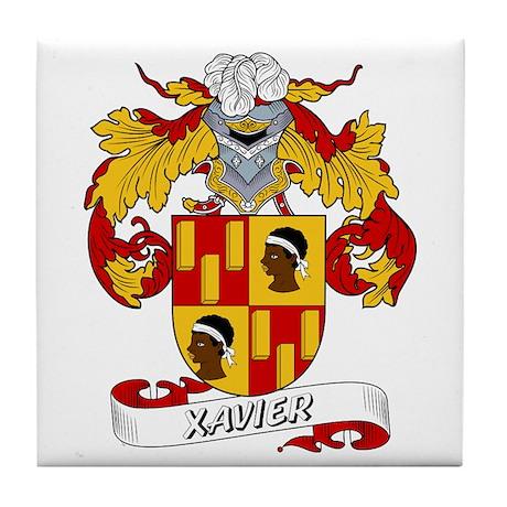 Xavier Family Crest Tile Coaster