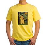 Starry Night / Cairn Terrier Yellow T-Shirt