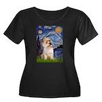 Starry Night / Cairn Terrier Women's Plus Size Sco
