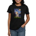 Starry Night / Cairn Terrier Women's Dark T-Shirt
