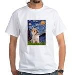 Starry Night / Cairn Terrier White T-Shirt