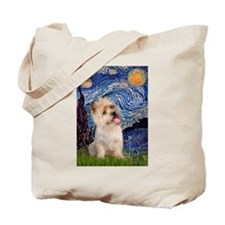 Starry Night / Cairn Terrier Tote Bag