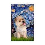 Starry Night / Cairn Terrier Sticker (Rectangle)