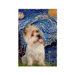 Starry Night / Cairn Terrier Rectangle Magnet (10