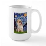 Starry Night / Cairn Terrier Large Mug