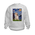 Starry Night / Cairn Terrier Kids Sweatshirt