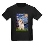 Starry Night / Cairn Terrier Kids Dark T-Shirt