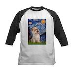 Starry Night / Cairn Terrier Kids Baseball Jersey