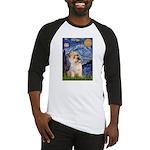 Starry Night / Cairn Terrier Baseball Jersey