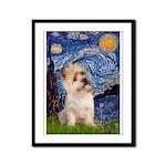 Starry Night / Cairn Terrier Framed Panel Print