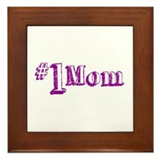 #1 Mom (Mother's Day) Framed Tile