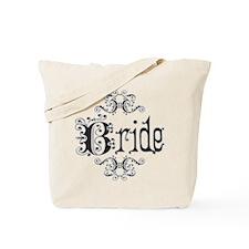 Black Fancy Bride Tote Bag