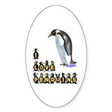 PENQUINS Oval Decal