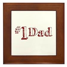 #1 Dad (Father's Day) Framed Tile