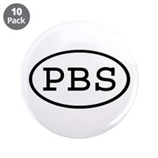 "PBS Oval 3.5"" Button (10 pack)"