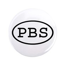 """PBS Oval 3.5"""" Button"""