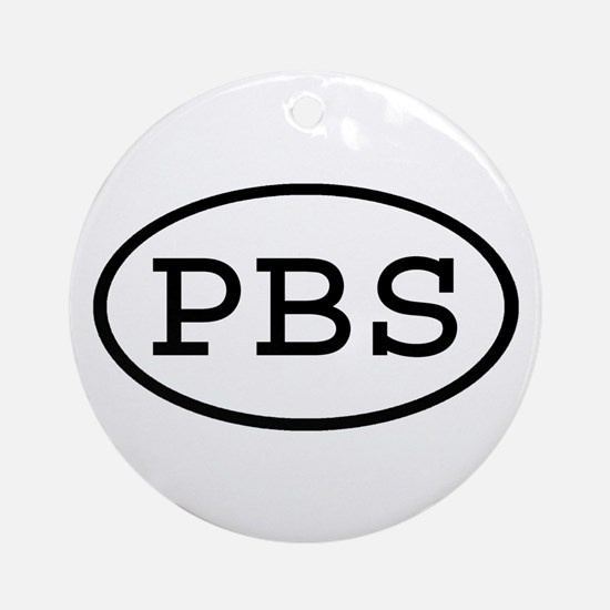 PBS Oval Ornament (Round)