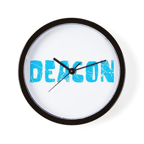 Deacon Faded (Blue) Wall Clock