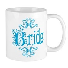 Blue Fancy Bride Mug