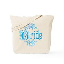Blue Fancy Bride Tote Bag