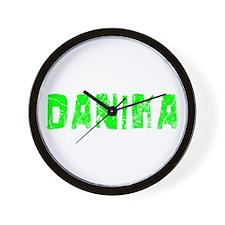 Danika Faded (Green) Wall Clock
