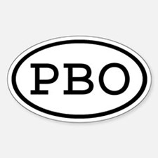 PBO Oval Oval Decal
