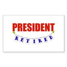 Retired President Rectangle Decal