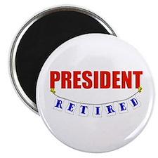 """Retired President 2.25"""" Magnet (100 pack)"""