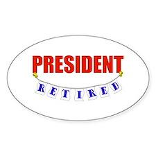 Retired President Oval Sticker (10 pk)