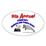Annual Panda Manatee Roast Oval Sticker