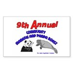 Annual Panda Manatee Roast Rectangle Sticker