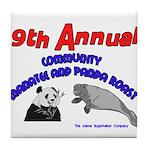 Annual Panda Manatee Roast Tile Coaster
