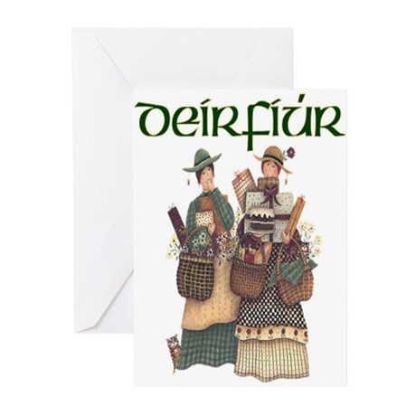 Sisters (Gaelic) Greeting Cards (Pk of 10)